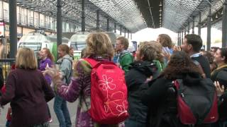International Week of the Deaf -- Sign Language Flash Mob, Helsinki Central Railway Station 2013