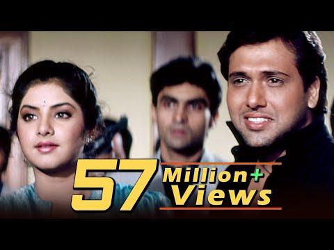 Tere Mere Pyar Mein | Full 4K Video Love Song | Govinda | Divya Bharati - Shola Aur Shabnam