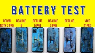 Realme 5 Pro Battery Test: vs Realme X, Realme 3 Pro, Z1 Pro, Note 7 Pro   Battery Drain   Charging