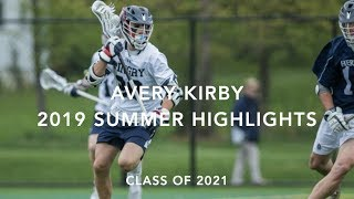Avery Kirby (Class of 2021) 2019 Summer Lacrosse Highlights Video