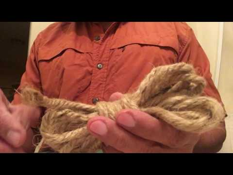 Jute Rope coiled at Outdoor Life Pro Shop