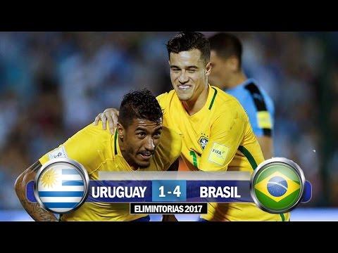Uruguay 1-4 Brasil / Eliminatorias Conmebol Rusia 2018 / Relato Tyc Sports