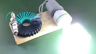 New 2019 Free Energy Experiment Using Magnet With Spark Plug , DIY Science Project