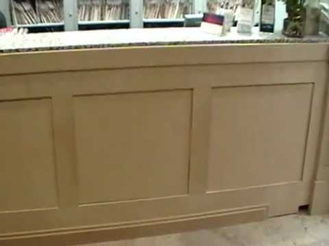 How To Build A Curved Reception Desk. Wood Curved ...
