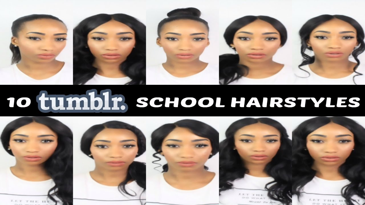 10 easy back to school tumblr hairstyles natural/wig | iamshe