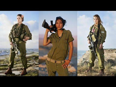 Female Israeli Troops in Action