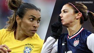 Dribles & Lances Mágicos Do Futebol Feminino || HD