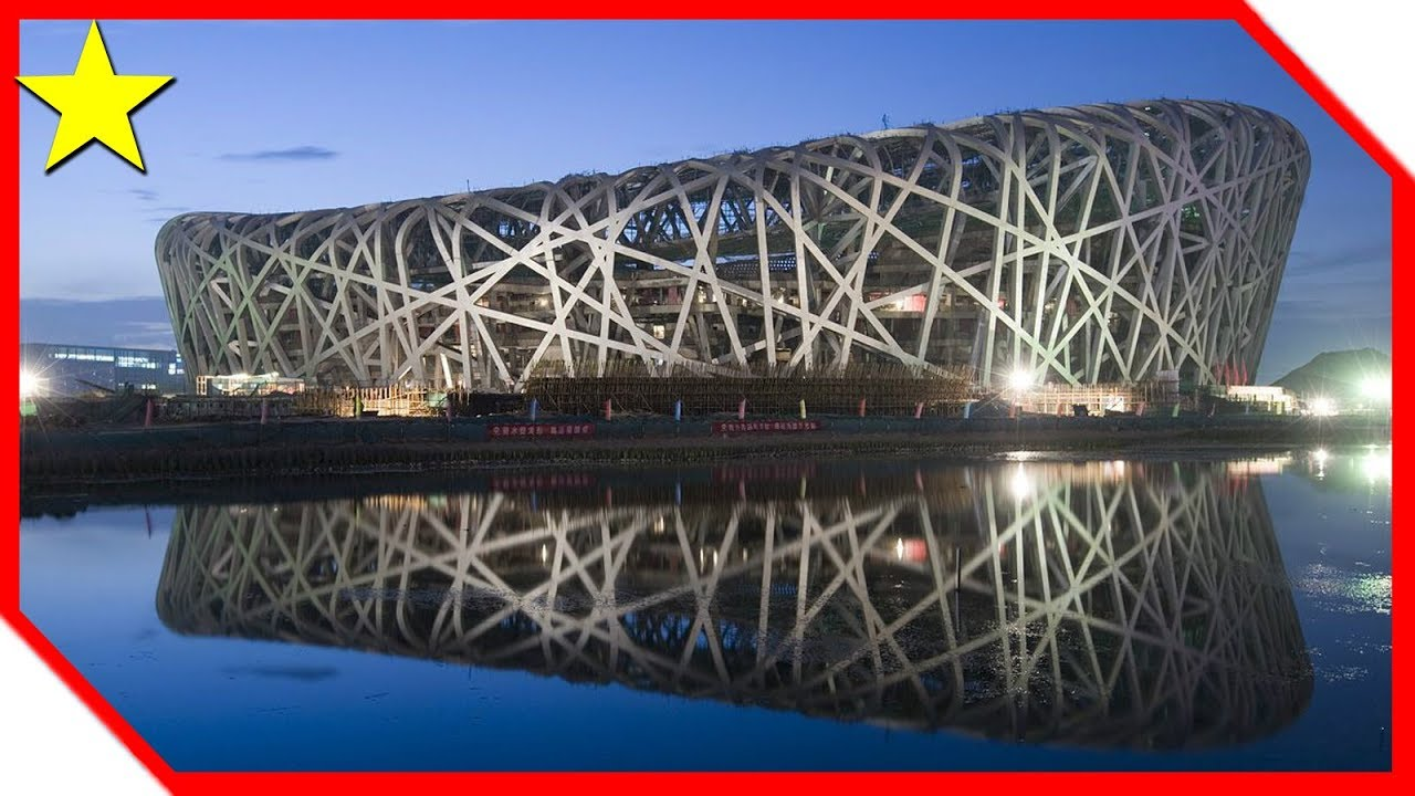 Beijing olympic stadium capacity the bird 39 s nest youtube for The bird s nest stadium