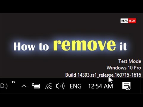 Remove Test Mode Watermark on Windows 10/8.1/7