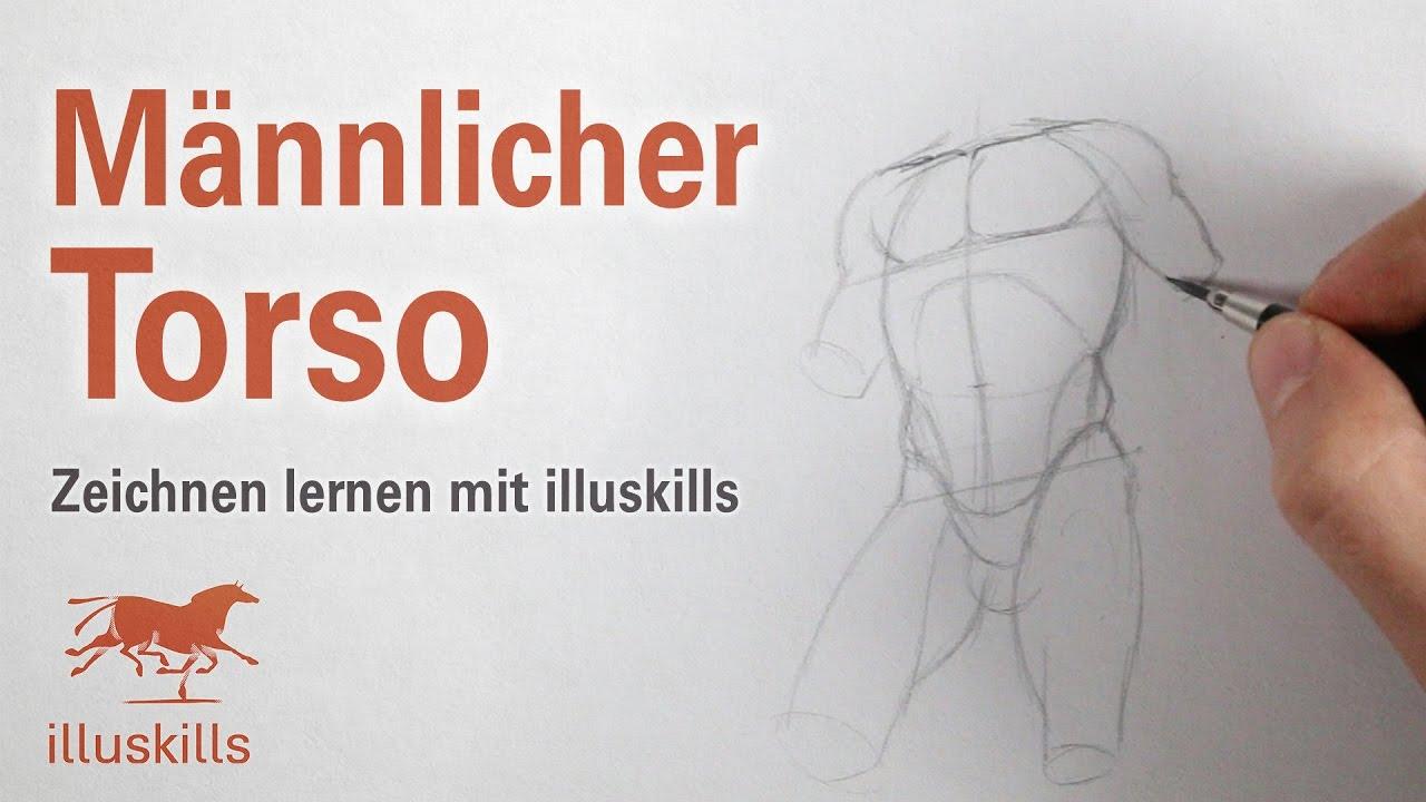 Männlichen Torso zeichnen - YouTube