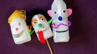 More great puppet tips, this time with bottles.