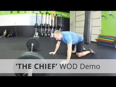 """THE CHIEF"" CrossFit WOD - 21+8 Rx"
