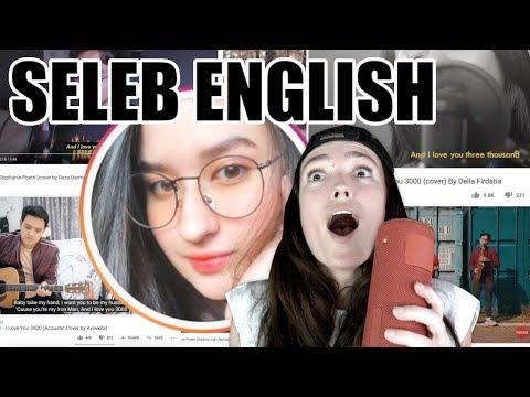 Stephanie Poetri Dan YG COVER LAGU I LOVE YOU 3000 - Seleb English