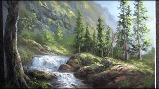 Oil Painting Waterfall Landscape - Paint with Kevin Hill