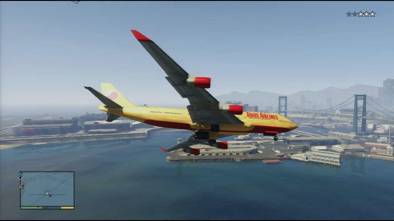 Jet Privato Gta 5 : Gta how to steal a jumbo jet youtube