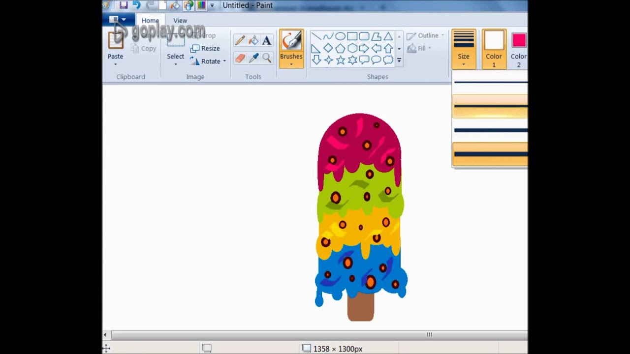 tasty home design tools. How to Draw Tasty colorful Ice cream in Ms Paint easy  YouTube