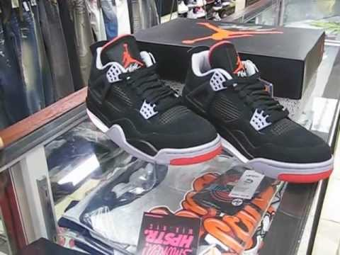 the latest 04972 274aa Nike Air Jordan IV Retro Bred 2012 - Black with Cement Grey   Fire Red at Street  Gear, Hempstead NY