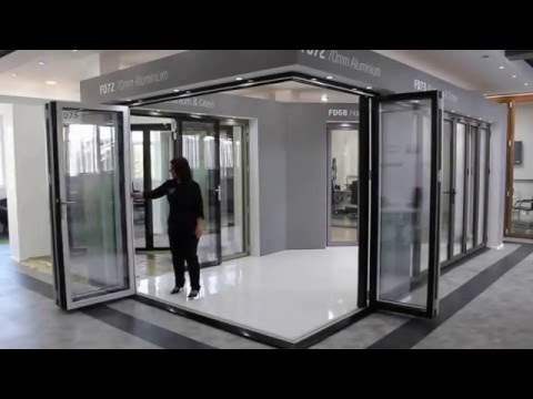 Bi-Folding Door Corner Set From The Folding Sliding Door Company