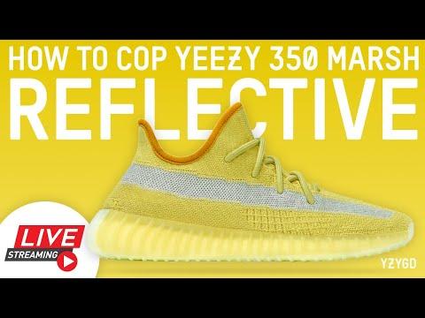 How to Cop adidas Yeezy Boost 350 V2 Marsh REFLECTIVE RF Yeezy Supply Shock Drop Live Stream
