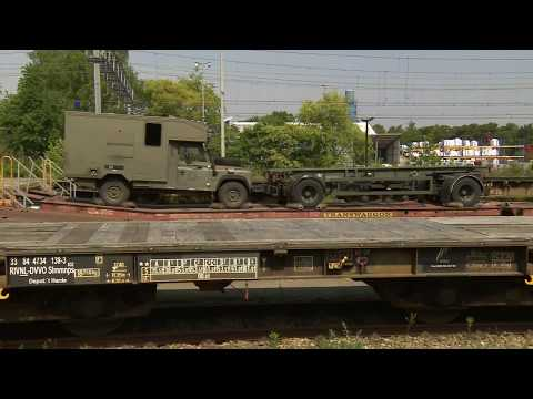 Noble Jump 17 - Netherlands Troops Loading Trains for Noble Jump 17