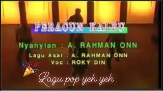 Lagu  retro karaoke- Peracun Kalbu( A .Rahman Onn)   Pop Yeh Yeh '60an'