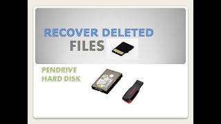 RECOVER DELETED DATA 100% MUST WATCH