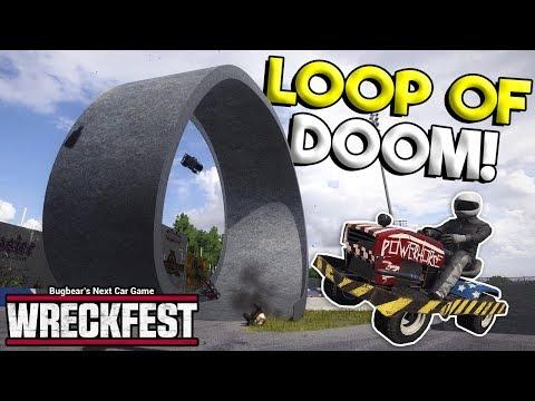 LAWNMOWER VS INSANE LOOP OF DESTRUCTION! - Next Car Game: Wreckfest Release Gameplay - Wrecks & Race  