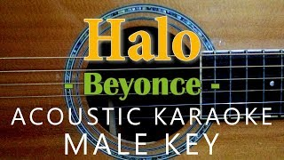 Halo - Beyoncé [Acoustic karaoke | Male Key ]