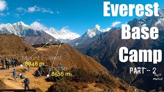 first view of Mt. Everest from Namche Bazaar - Everest Base Camp Trek - Part 2