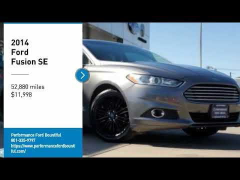 Performance Ford Bountiful >> 2014 Ford Fusion Er356612