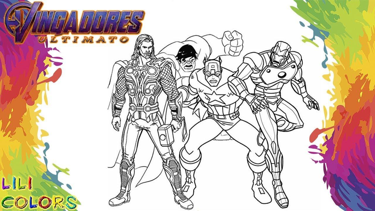 Pintar Os Vingadores Homem De Ferro Thor Hulk E Capitao America