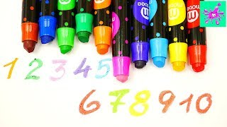 Learn To Count To 10 With Wax Pencils | Counting Numbers | Numbers 1 To 10
