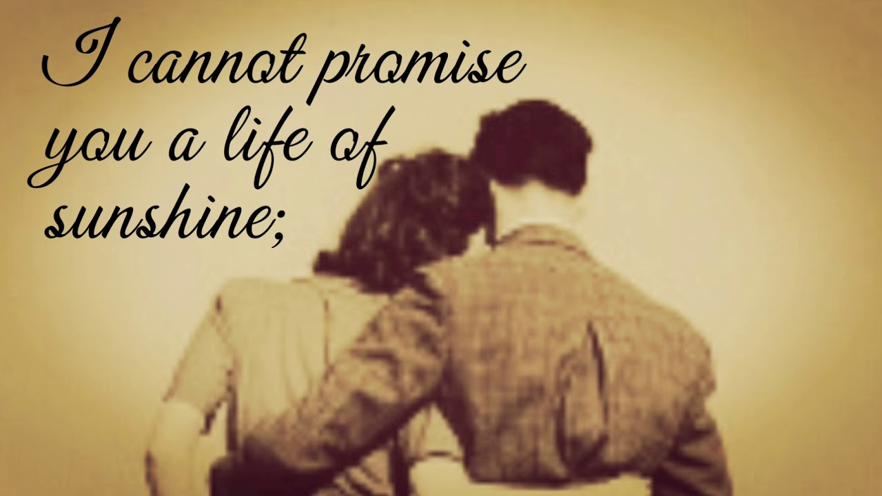 marriage poem these i can promise by mark twain youtube
