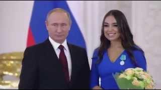 Лейла Алиева награждение медалью Пушкина и ответное слово в Кремле