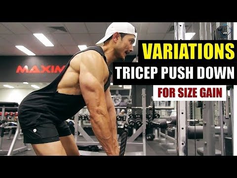 TRICEPS PUSH DOWN Advanced VARIATIONS [Only Pro Coaches Will tell you this]
