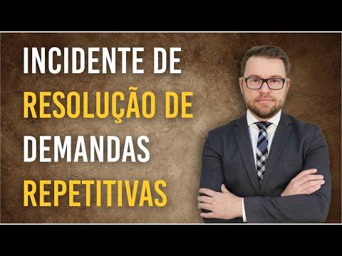 NOVO CPC - IRDR - Incidente de Resolução de Demandas Repetitivas