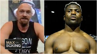 Tyson fury says he'll beat francis ngannou after anthony joshua   max on boxing