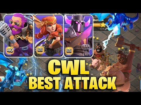 CWL Best Attack 2019 - New Hero Skin - MOST Strong Attack Strategy in Clan War League