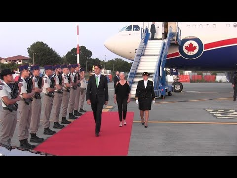 Trudeau arrives in Biarritz, France for the G7 summit