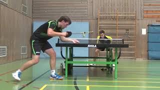 Scheer TV 48 Erlangen vs Stumpf Hilpoltstein 20181015 Greuther Fuerth Table Tennis Stadtm  4