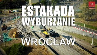 #Wyburzanie estakady pl. #Społeczny #Wroclaw zamknięta #estakada #rozbiórka