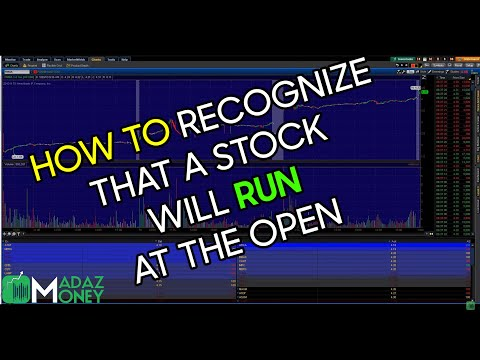How to Recognize That a Stock Will Run at the Open - FNMA Example