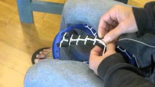 Stringing a mini Pita pocket by Blackfeet Lacrosse part 1