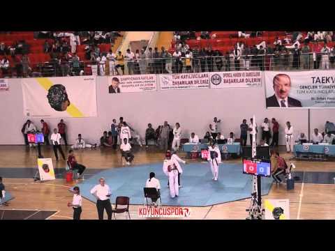 59kg Osman Mert vs Mehmet Atilla Alpay (Turkish Junior TKD Championships 2015)