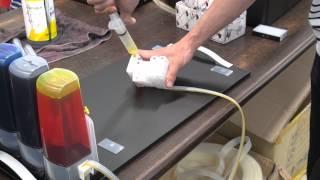 [미르프린터온 프린터 기술교육] 캐논 MAXIFY MB2390  P-CISS공급기 잉크탱크결합후 카트리지석션