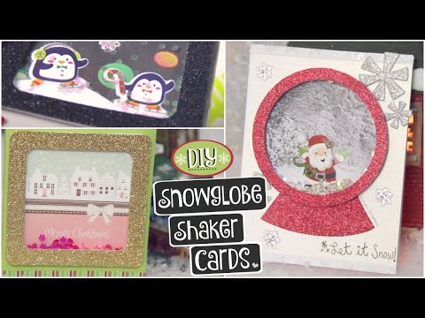 DIY SNOWGLOBE CARD // Shaker Cards for Christmas, Holidays & Winter - How To| SoCraftastic