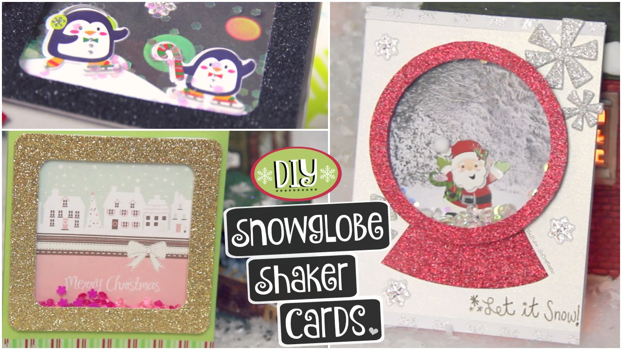Diy Snowglobe Card Shaker Cards For Christmas Holidays Winter