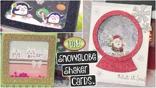 DIY SNOWGLOBE CARD // Shaker Cards for Christmas, Holidays & Winter How To