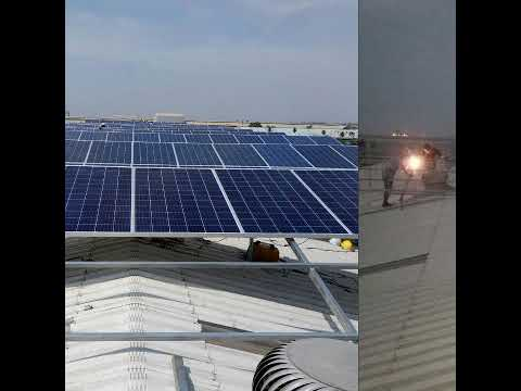 100 Kwp solar industrial captive power plant