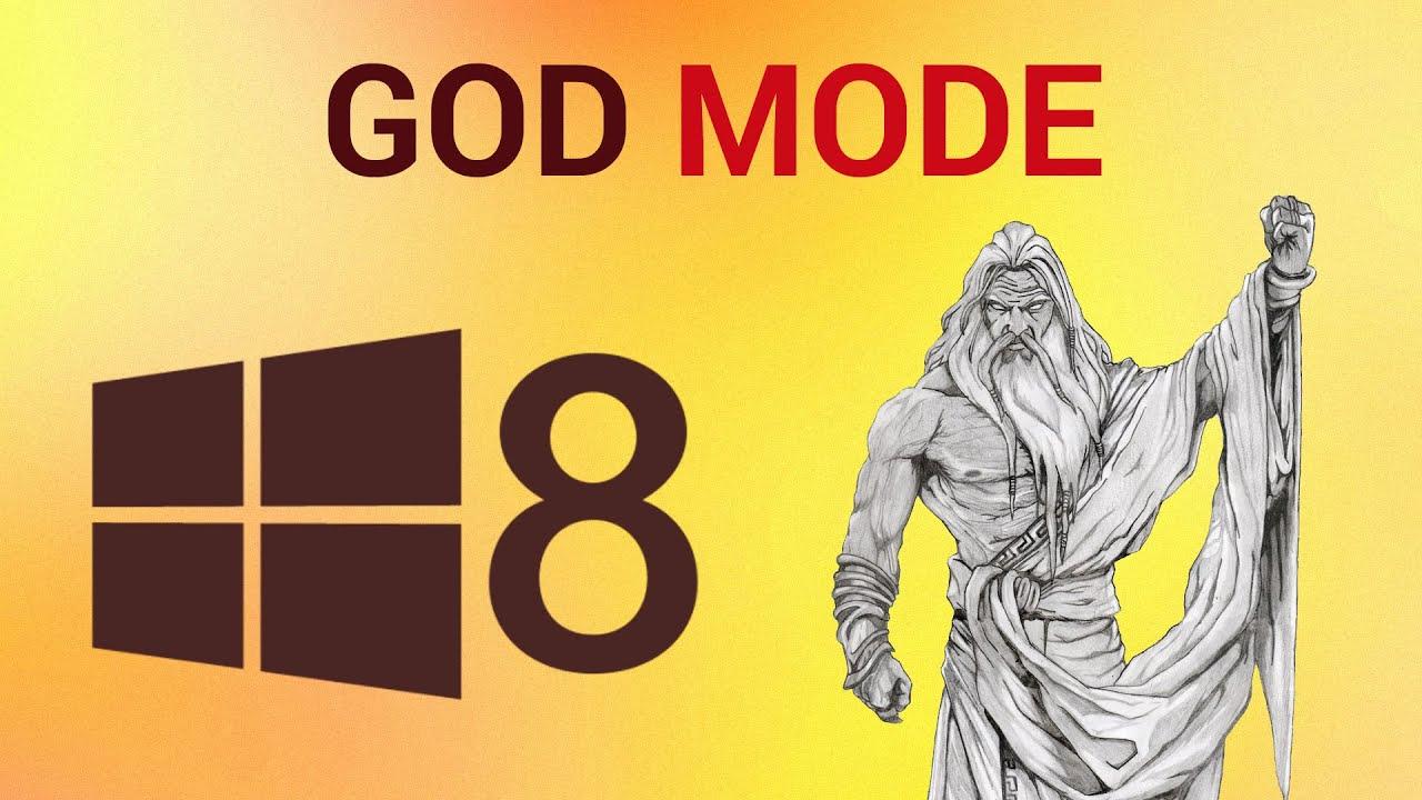 Design poster win8 - God Mode In Windows 8